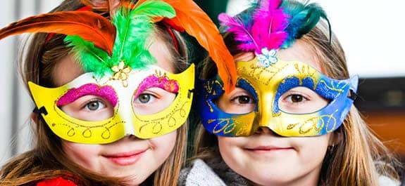 Fiesta de carnaval en casa