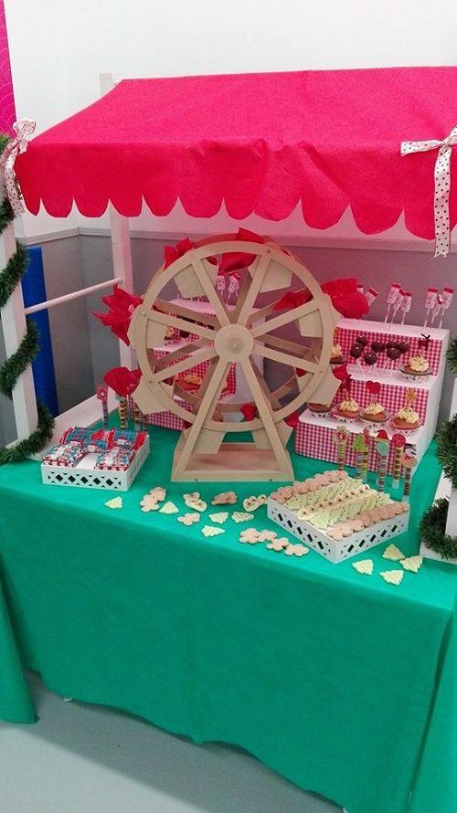 Mesa dulce Fiesta sobre Ruedas