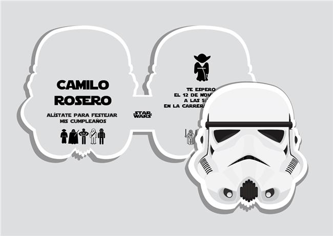 Invitaciones originales de Star Wars