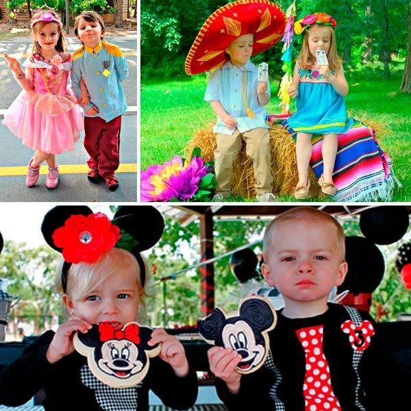 Vestimenta para gemelos