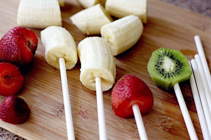 Piruletas de frutas