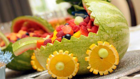 Ensalada de fruta para baby shower