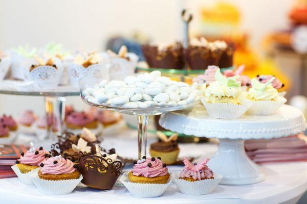 Postres para mesas dulces para cumpleaños