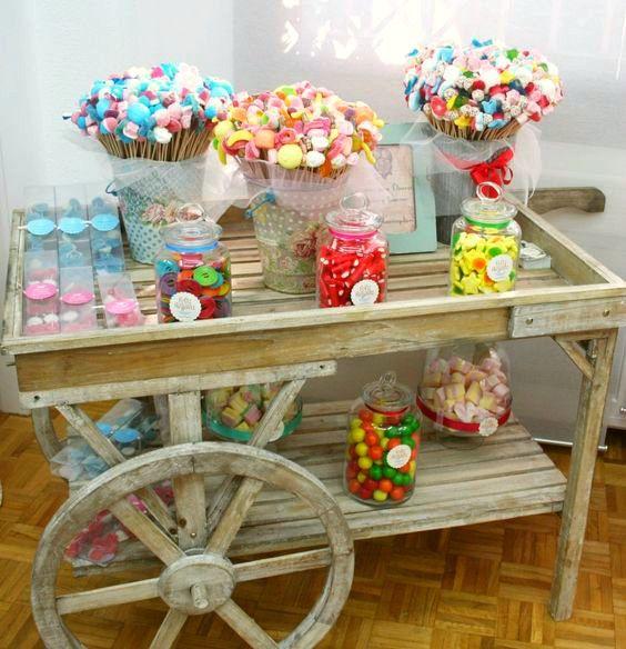 Ideas para candy bar para bautizo