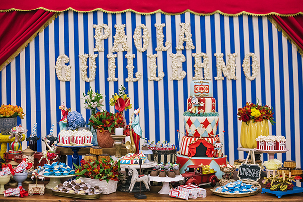 Cumpleaños para gemelos Circo