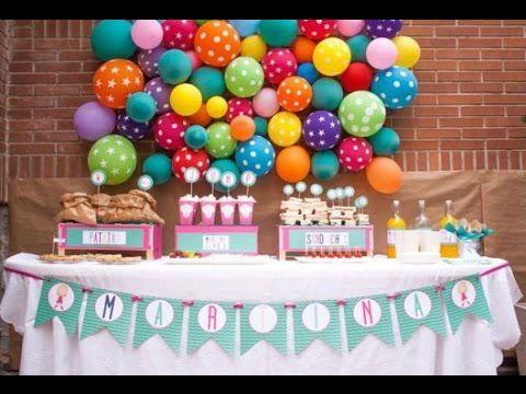 Cómo decorar fiesta de cumpleaños