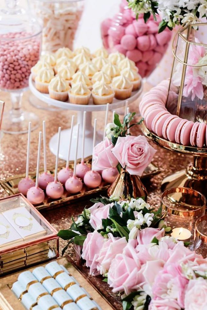 Mesas dulces para baby shower
