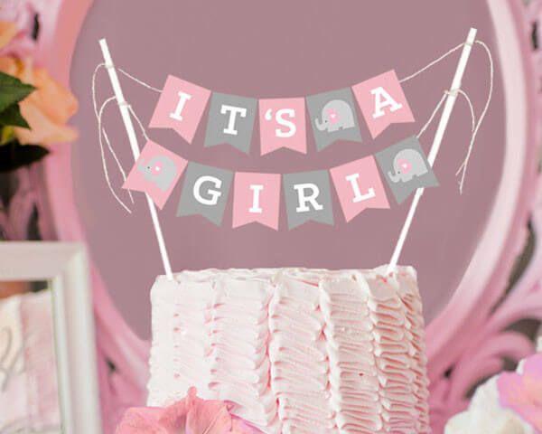 Ideas para recuerdos de baby shower para niñas