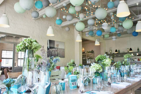 C mo decorar salones para baby shower piccola festa - Decoration de salle pour bapteme garcon ...
