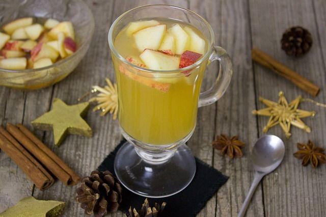 Bebidas para baby shower en Navidad
