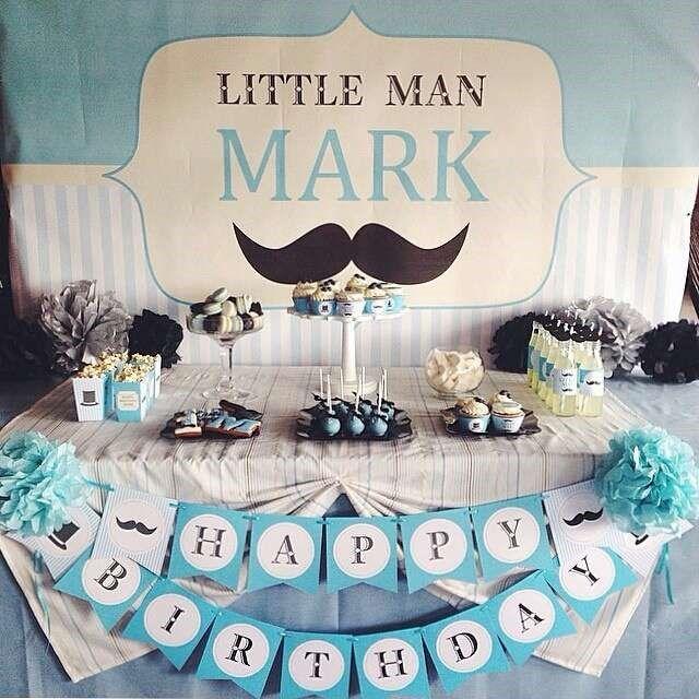 baby shower para var n tema bigotes piccola festa
