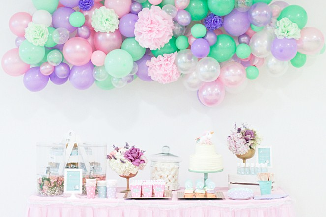 decorar fiesta con globos