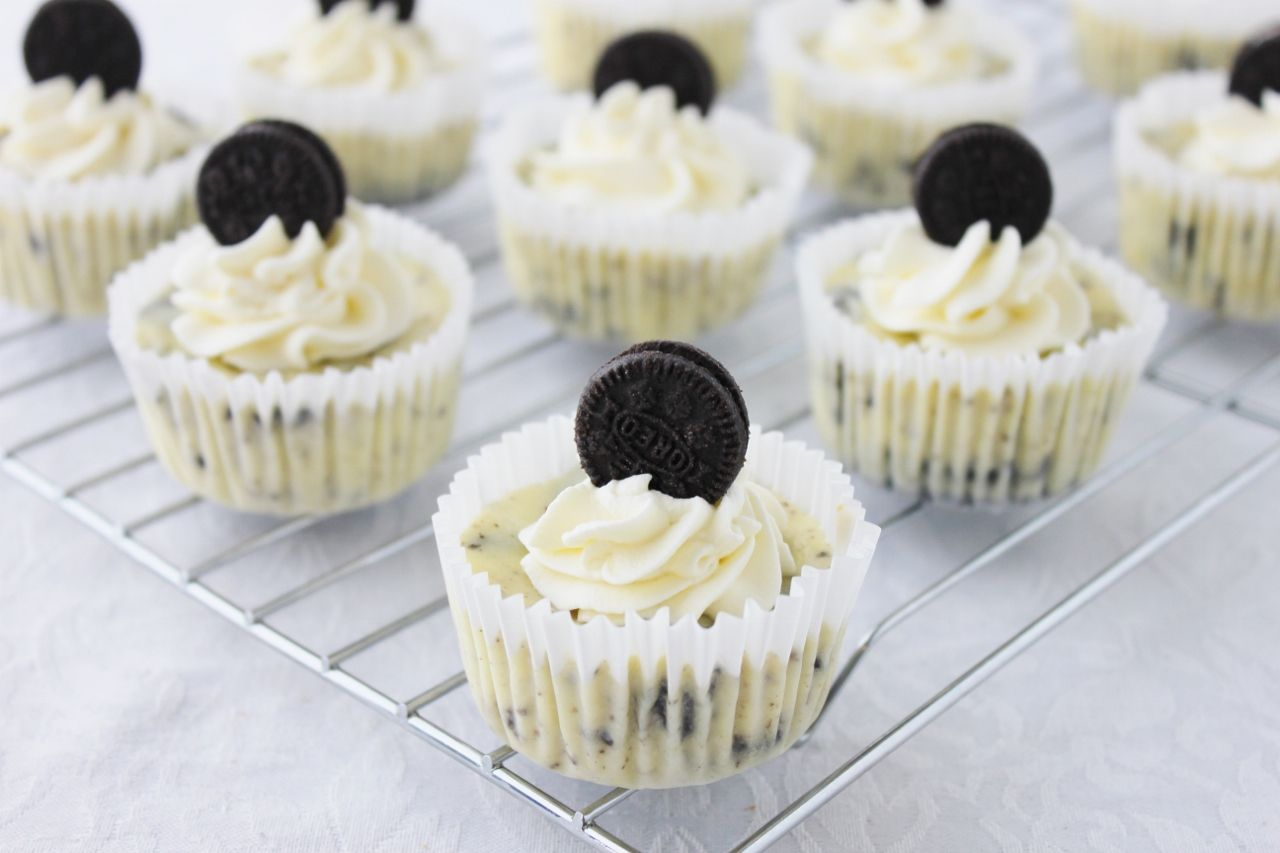 Mini - Cheesecake de galletas Oreo