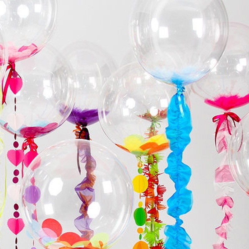 Globos trasparentes para decorar