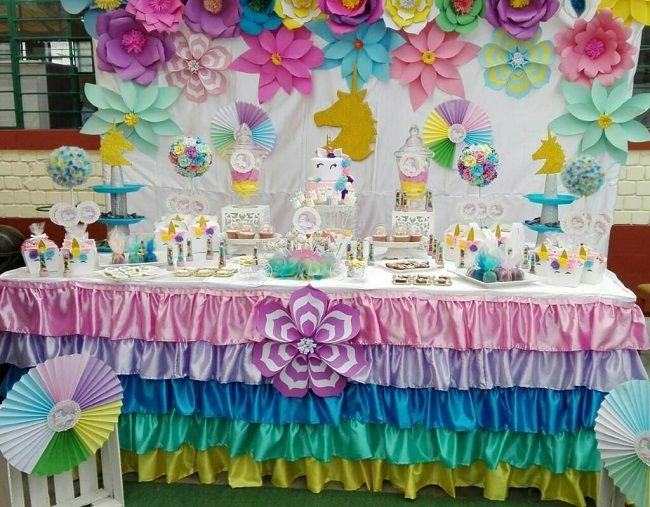Unicornios para la decoración de fiesta