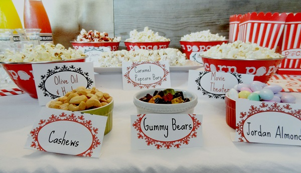 Ideas para pop corn bar