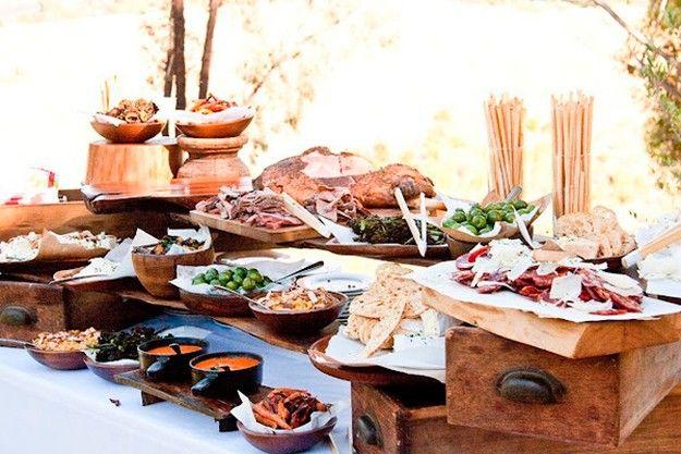 Cómo montar una mesa de aperitivos en una fiesta