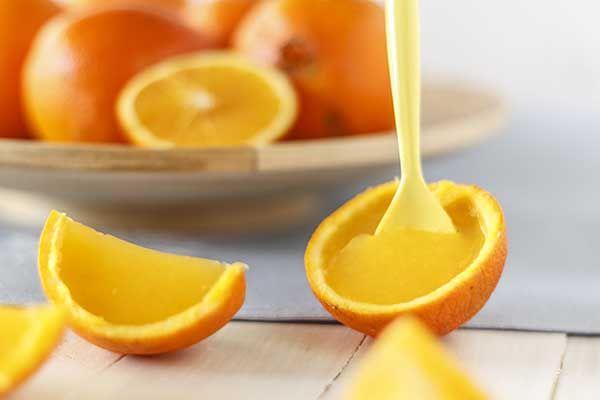 Gajitos de naranja con gelatina
