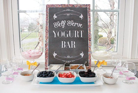 Barra de yogurt. Un giro nutritivo a la mesa dulce