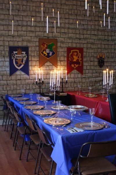 Fiesta infantil en el Gran Comedor de Hogwarts